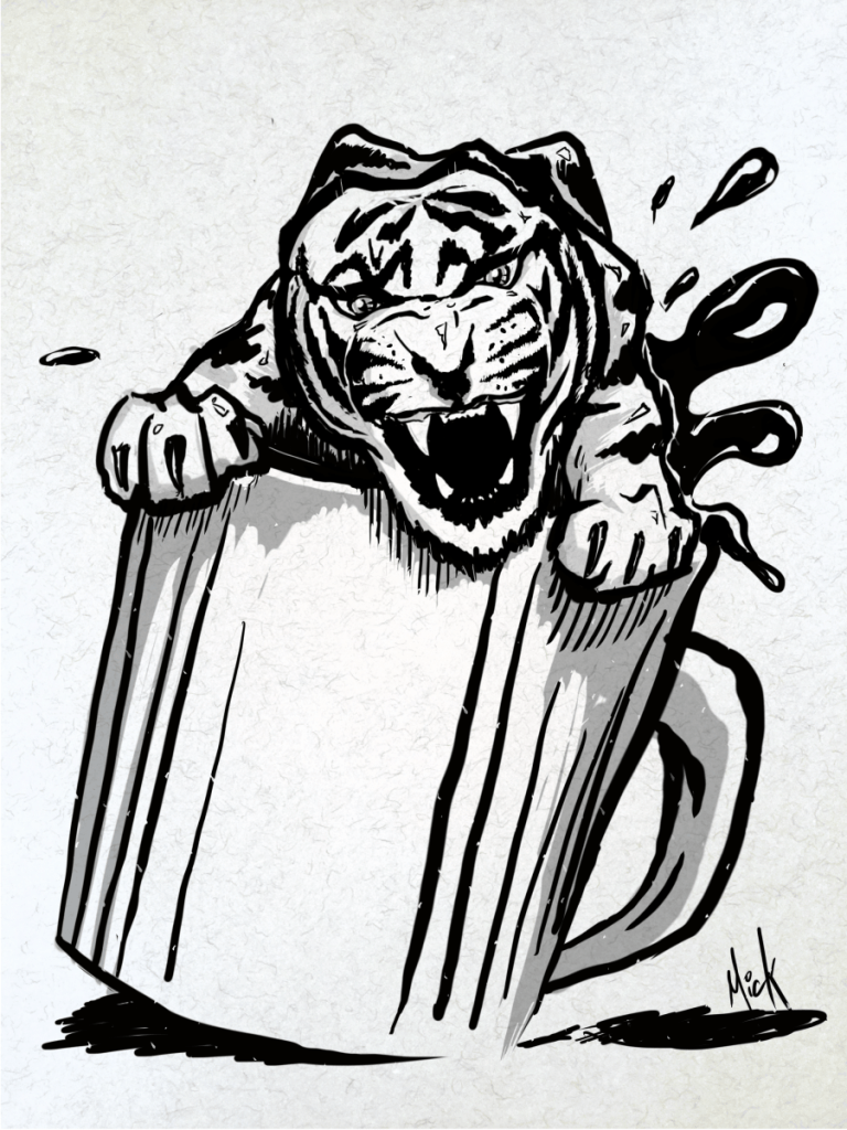 Tiger Coffee Mug Artwork