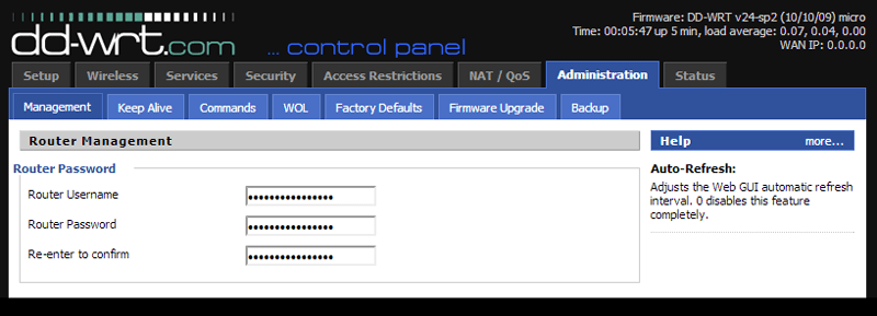 DDWRT Interface