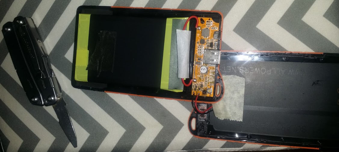 How I fixed my Poweradd Solar Panel Portable Charger