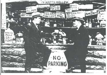 Picture is believed to be Al Capone and an unidentified friend at Happy Hollow in Hot Springs, Arkansas.