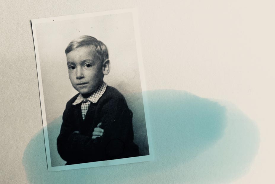 A picture of artist Michael Statham as a child