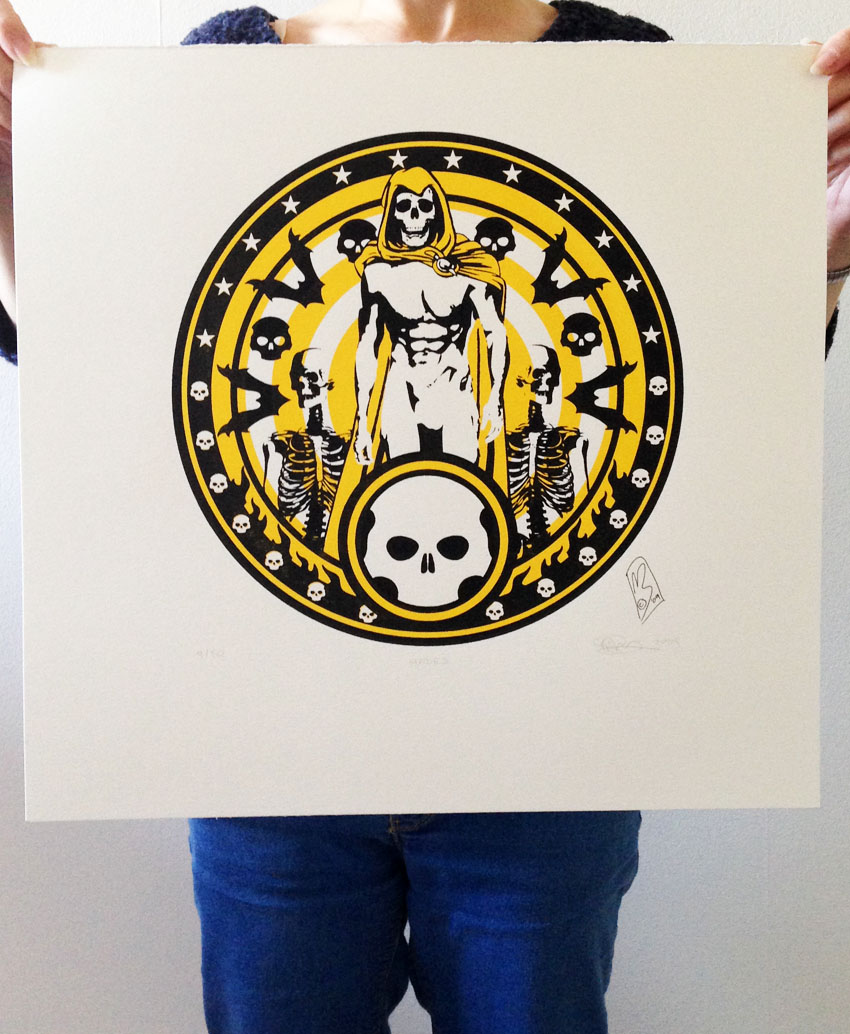 Hades a screenprint by artist Michael Statham