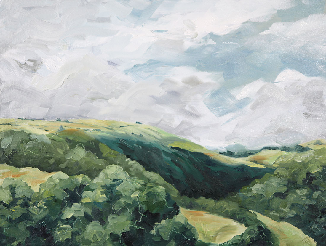 View over Monsal Dale Oil on reclaimed hard board41 x 31 cm2019