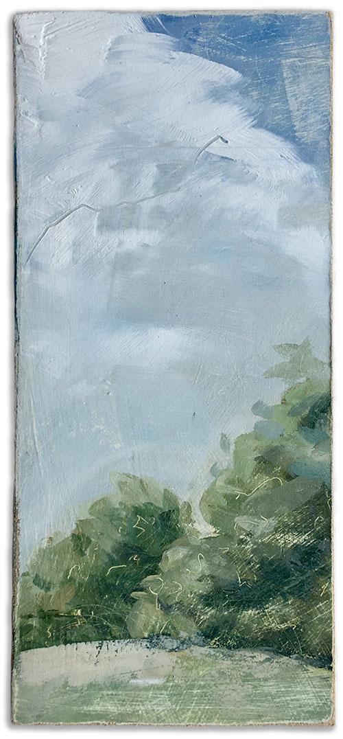 an imagined vintaged landscape number 5 by artist Michael Statham