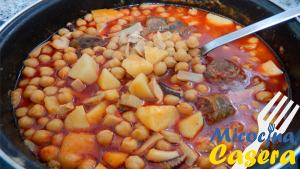 Garbanzos con Chocos receta