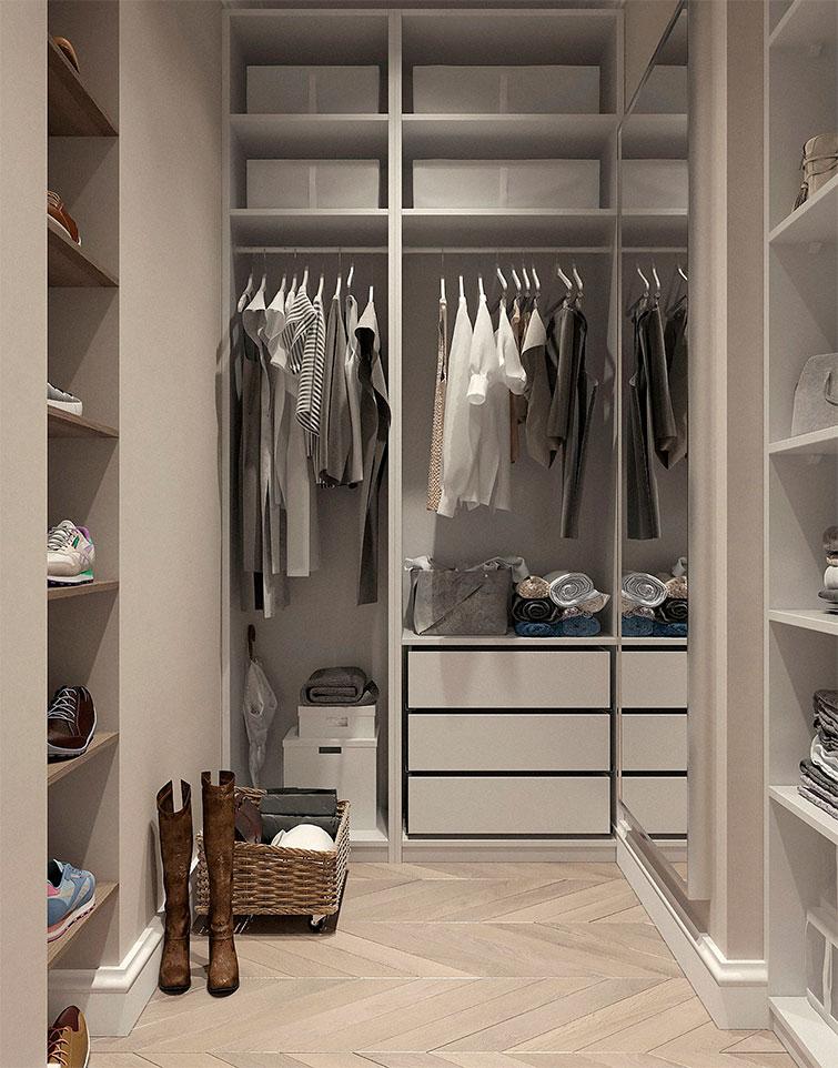 photo d'un dressing minimaliste et épuré