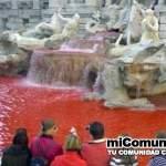 """""""Sangre"""" de los cristianos perseguidos tiñe fuente en Roma"""