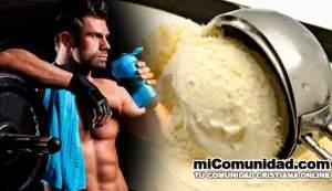 Receta de helado de proteínas para ganar masa muscular