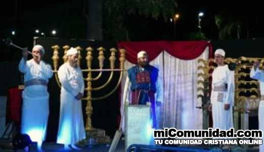 Sacerdotes hacen reconstitución del servicio del Templo en Israel