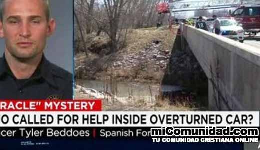 Policía dice que voz de ángel los guió a salvar una niña