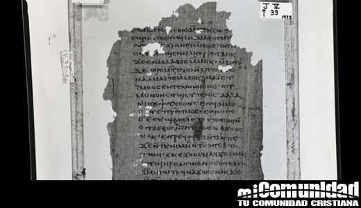 """Hallan la primera copia en griego de los """"secretos"""" de Jesucristo a Santiago"""