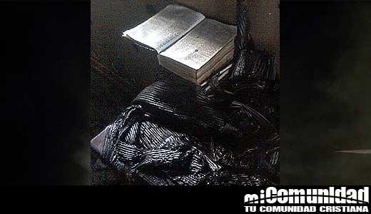 Kyrgyzstan: Militants light a church but the Bible survives