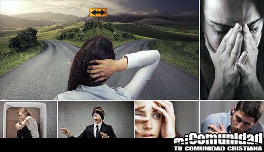 Collage de seis diferentes fotos representando miedo