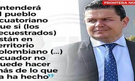 Asesor Presidencial: «No se puede hacer mas por secuestrados»