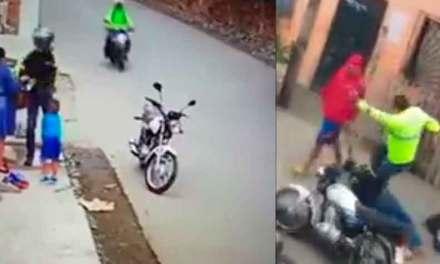 Debate en redes sociales por Policía que detuvo a asaltante y lo golpeó.