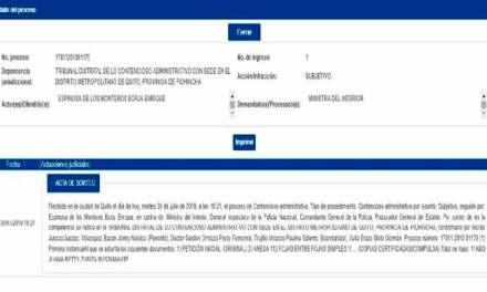 Exgeneral Enrique Espinosa de los Monteros denuncia por su destitución a Ministra María Paula Romo