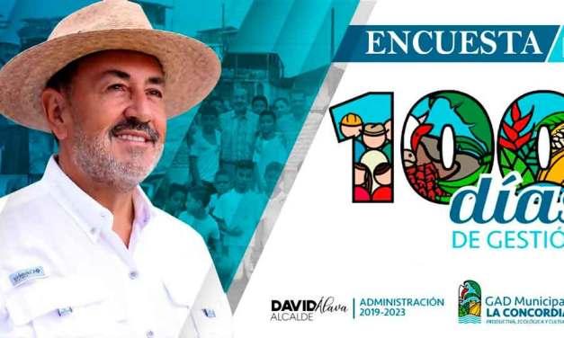 David Alava Alcalde de La Concordia Invita a toda la ciudadanía al informe por los 100 días de gestión. Encuesta