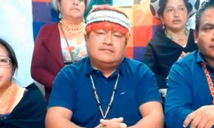 """Moreno """"tendrá que dejar la presidencia"""" advierten los indígenas"""