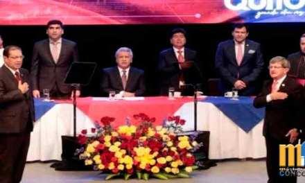 Cruce de palabras entre Lenín Moreno y Jorge Yunda durante la sesión solemne por la Fundación de Quito