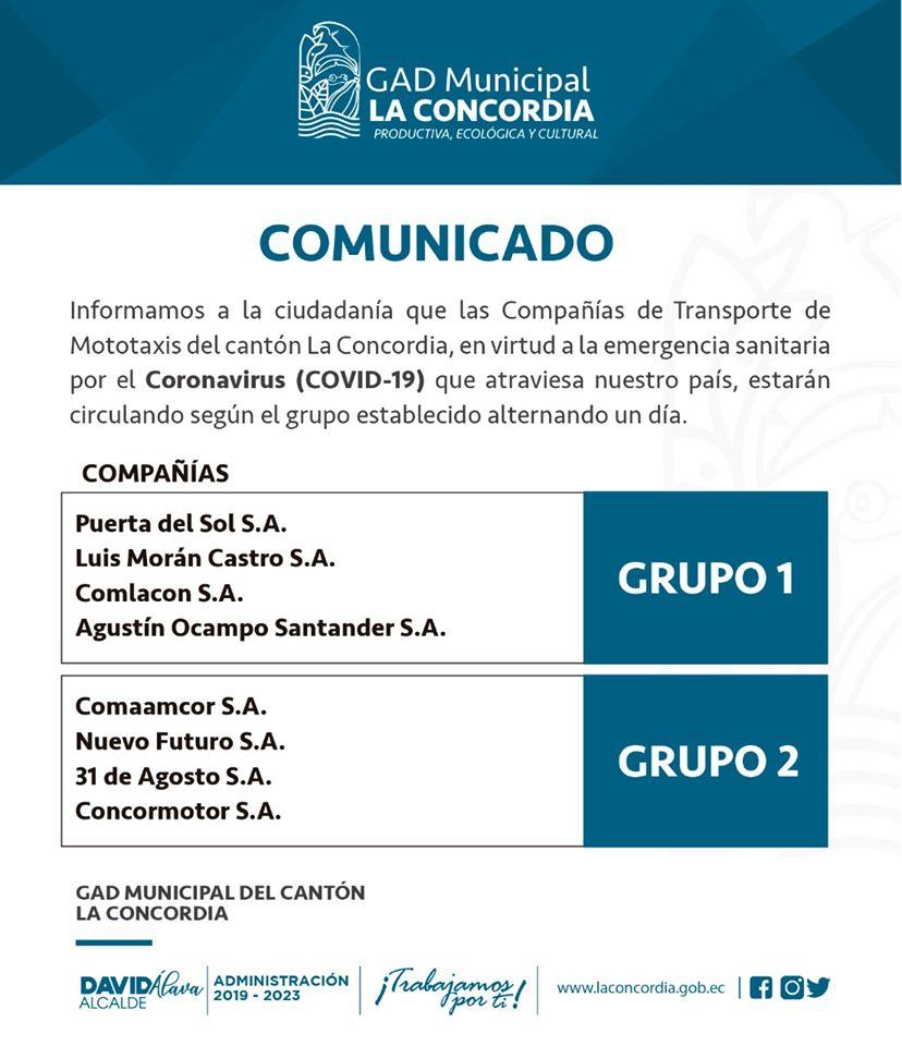 Comunicado Gad La Concordia