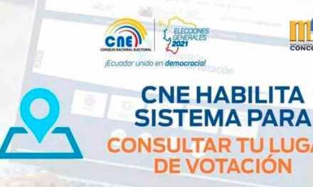 CNE habilita sistema para consultar lugar de votación