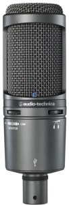 The AT2020USB is a very highly rated microphone with USB connectivity