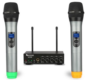 Another solid under $100 wireless microphone with two handhelds