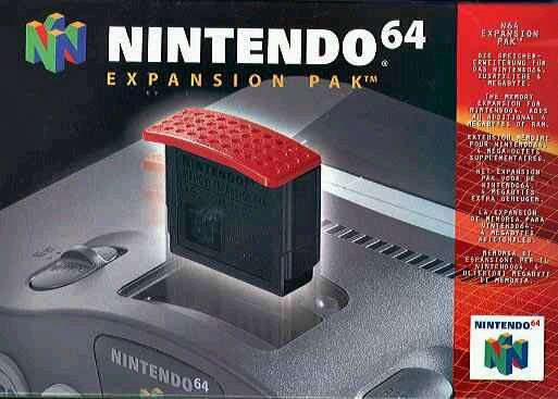 Image result for red expansion pak nintendo 64