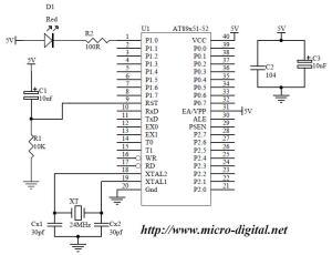 8051 Basic LED Flasher | Micro Digital