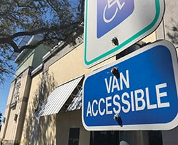 Parking sign: Van Accessible. Image Copyright: Microassist.com