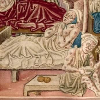 raffigurazione della peste nera