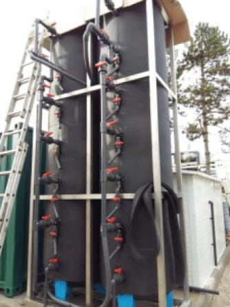 Impianto Saltgae per la depurazione algale-batterica delle acque reflue
