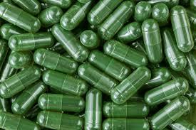 Compresse liofilizzate di spirulina, microalghe microbiota