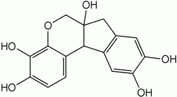 Struttura chimica dell'ematossilina