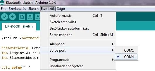 Arduino klón telepítés - Soros port