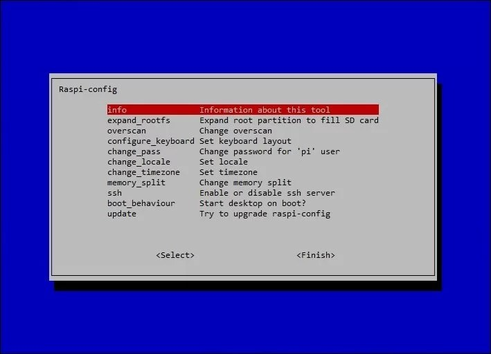 SSH kapcsolat - Raspbian - Raspi config
