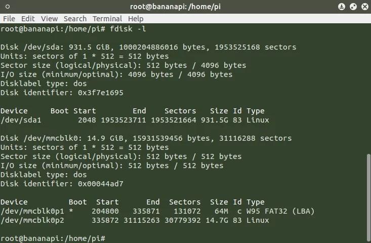 Bananapi - DS18B20 - Boot szekció