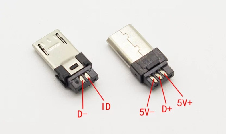 Micro USB apa csatlakozó - Fehér