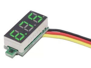 """0.28"""" beépíthető feszültségmérő - Zöld"""