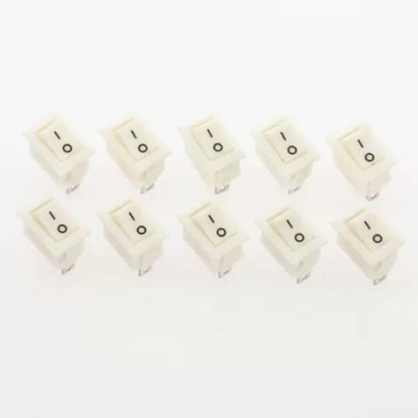 2 állású kapcsoló - Fehér
