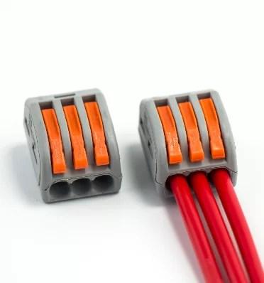 Oldható Vezetékösszekötő - Wago - 3 pólusú