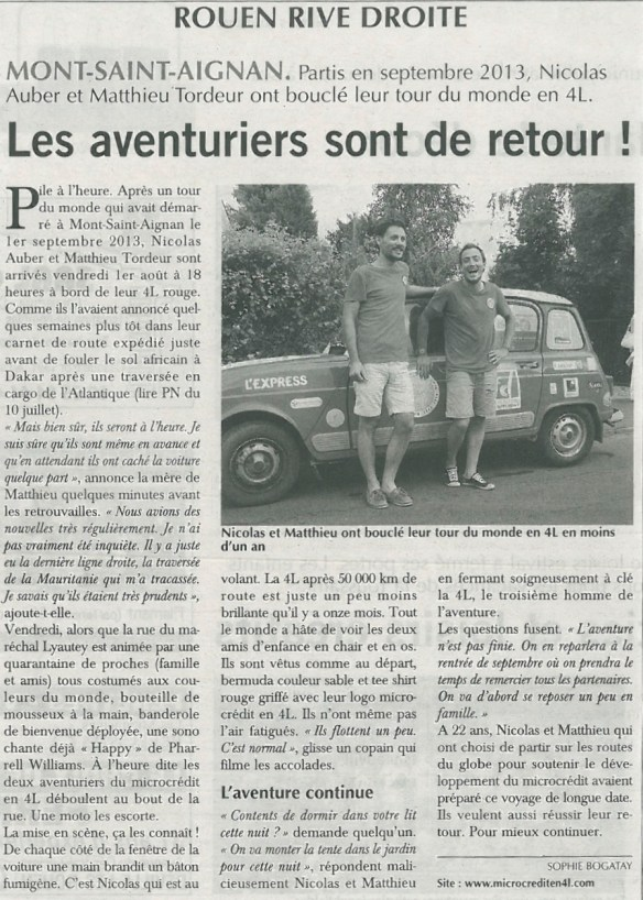 Article Paris-Normandie 05-08-14 JPEG