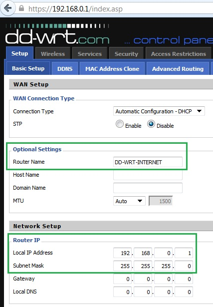 Router Name: DD-WRT-INTERNET & DD-WRT-OFFICE