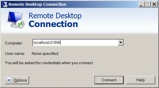 Remote Desktop Connection through SSH Tunnels