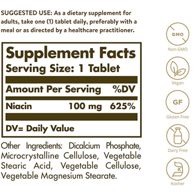Niacin B3 Supplement Facts