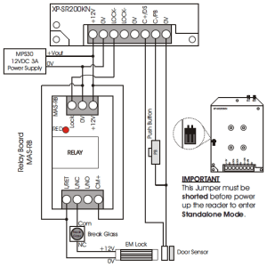 Wiring connection diagram for XPSR200K | MicroEngine