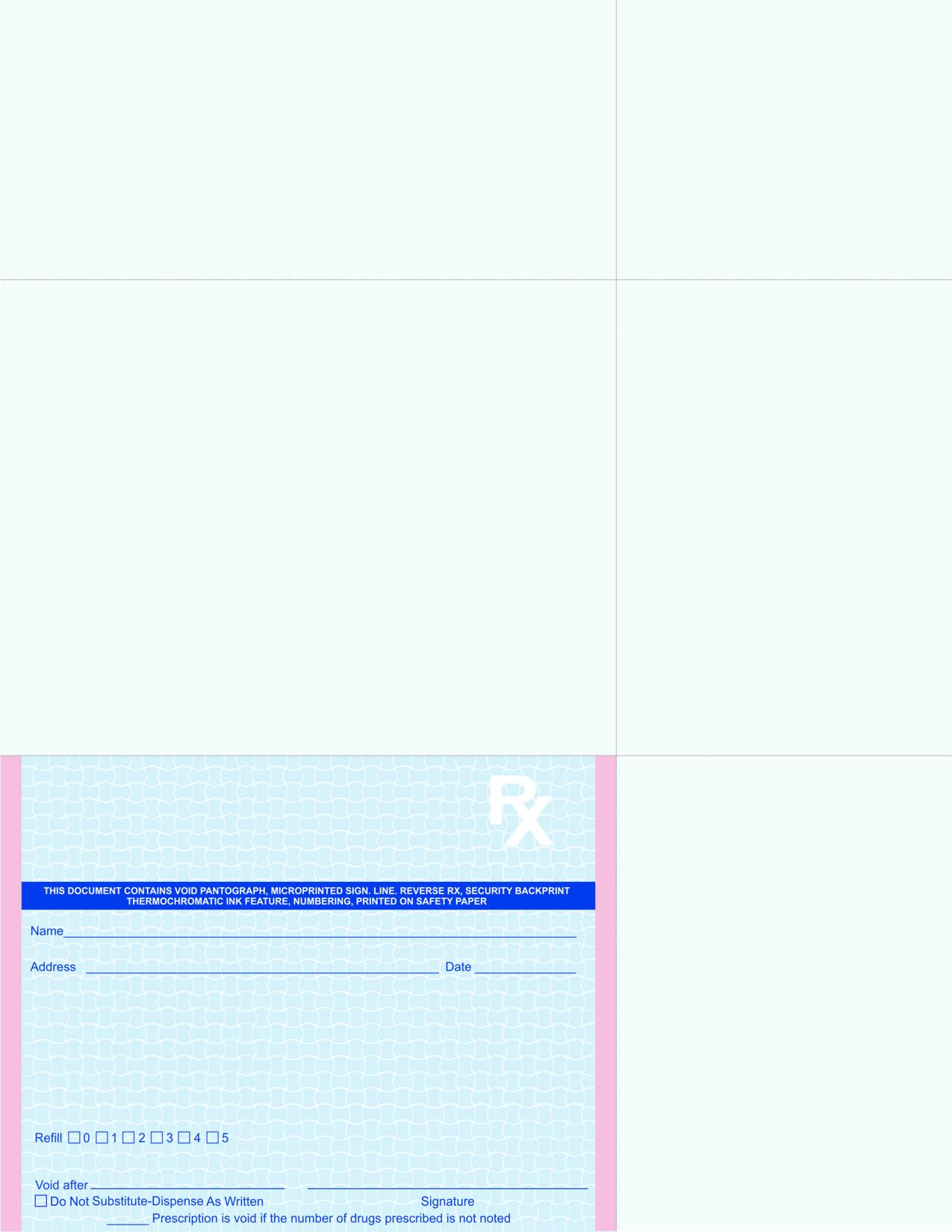 California Rx Pad Work Sheet
