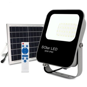 Foco Proyector Exterior SOLAR LED 50W