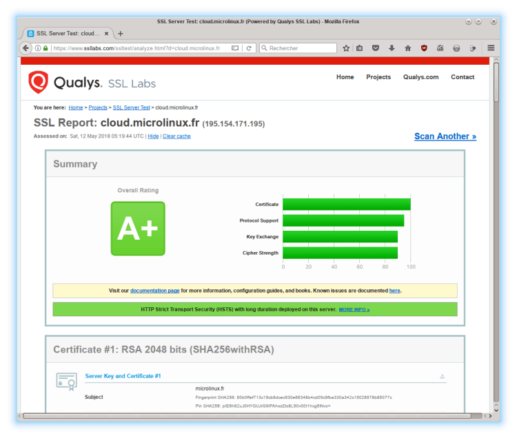 Qualys SSL Labs OwnCloud Microlinux
