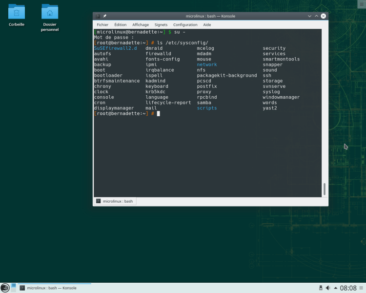OpenSUSE Leap 15.0 Shell